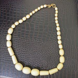 Talbots Ivory Beaded Necklace